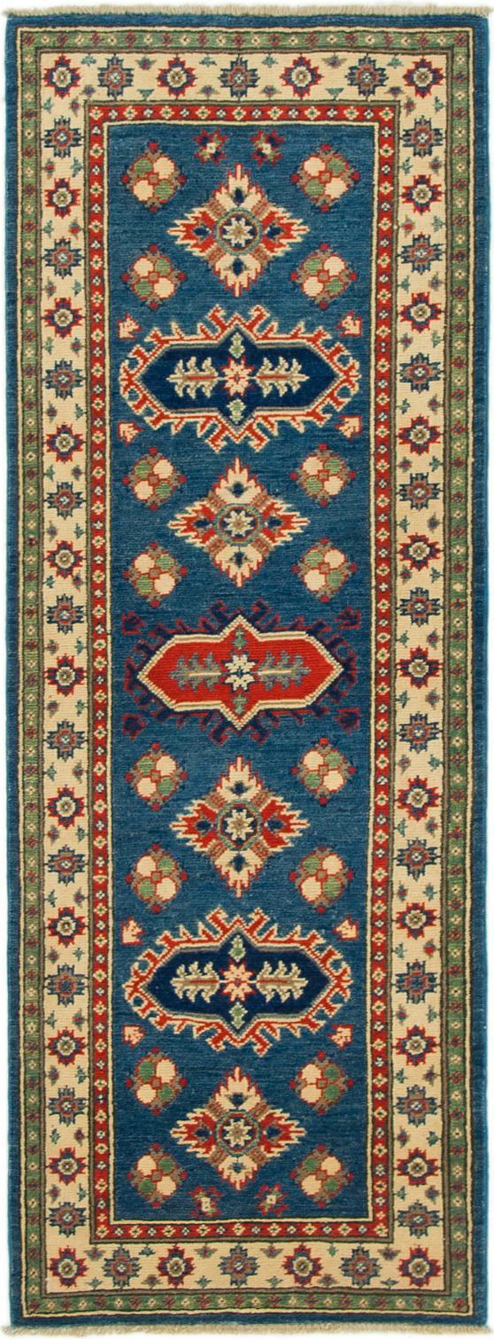 Blue 2 2 X 5 10 Kazak Runner Rug Oriental Rugs Rugsca