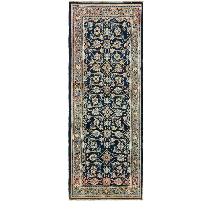 HandKnotted 3' 9 x 9' 10 Mahal Persian Runner Rug