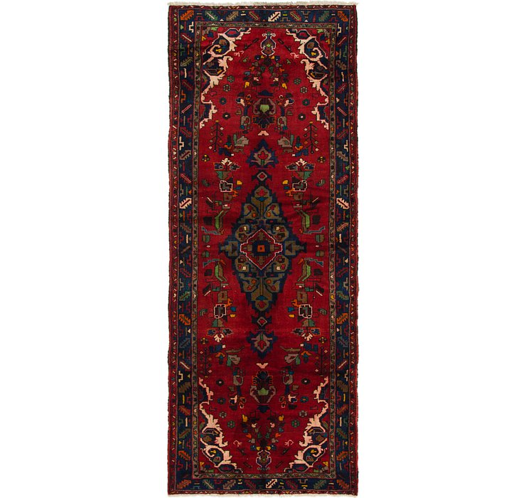 3' 9 x 9' 8 Roodbar Persian Runner ...