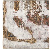 Link to 107cm x 115cm Ultra Vintage Persian Square Rug