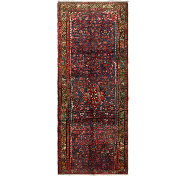 HandKnotted 3' 8 x 9' 8 Hossainabad Persian Run...