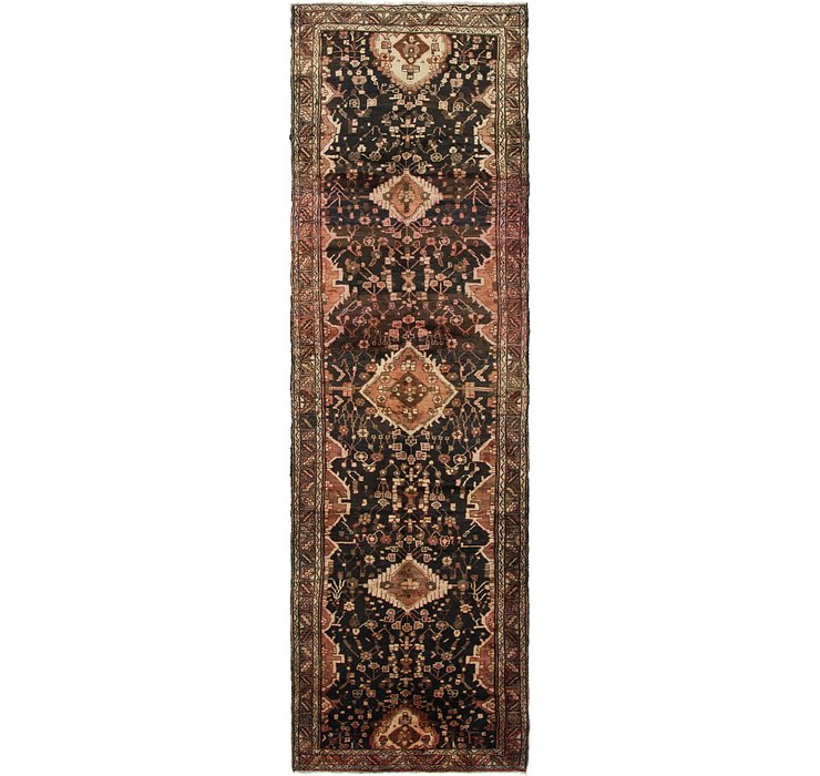 3' 9 x 13' 2 Hamedan Persian Runner ...