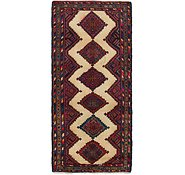 Link to 3' 9 x 8' 7 Chenar Persian Runner Rug