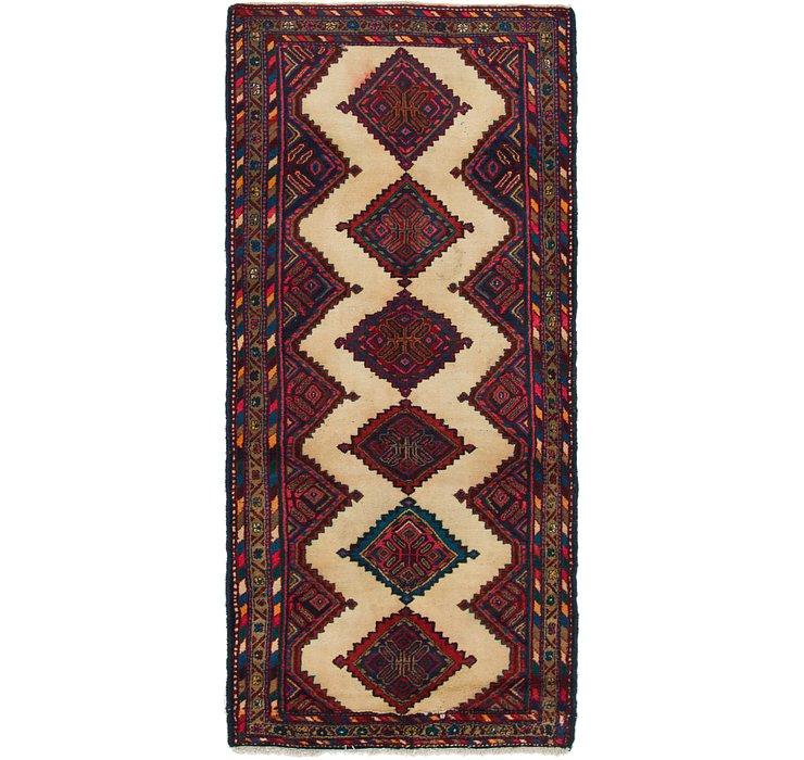 3' 9 x 8' 7 Chenar Persian Runner Rug