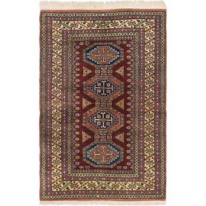 HandKnotted 4' 3 x 6' 6 Kars Oriental Rug
