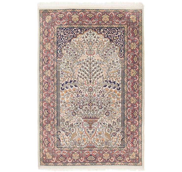 4' 2 x 6' 4 Sarough Oriental Rug