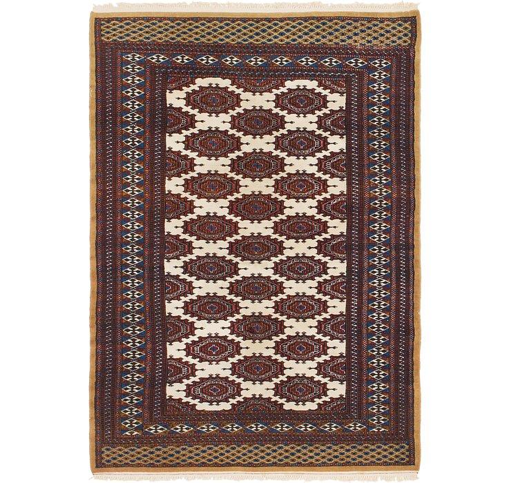 4' 2 x 6' 2 Bokhara Oriental Rug