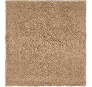 Link to 4' 10 x 5' 3 Solid Shag Square Rug