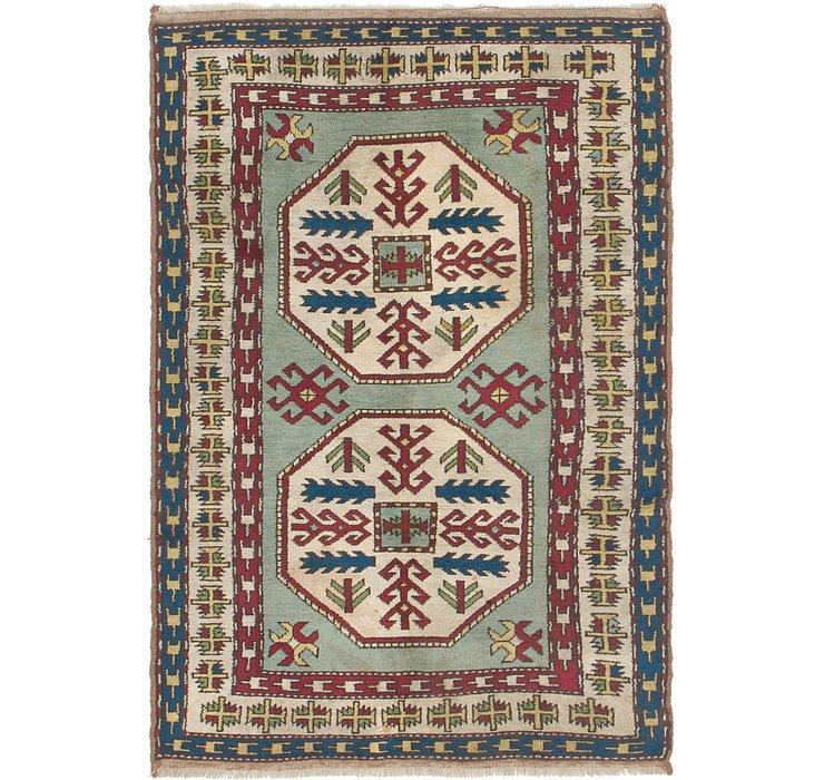 4' x 5' 10 Kars Oriental Rug