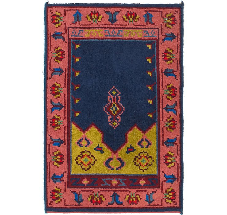 100cm x 152cm Antique Finish Rug