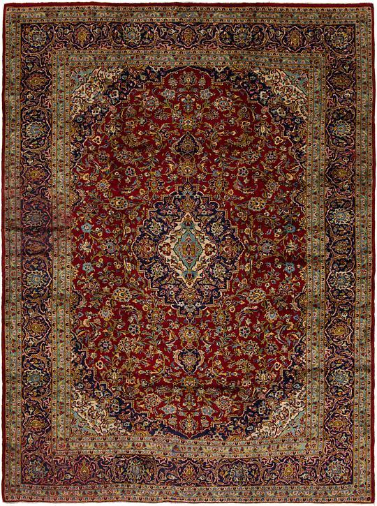 Red 9 10 X 12 7 Kashan Persian Rug Persian Rugs