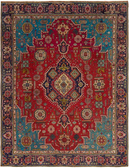 Persian rugs Round Esalerugs Red 9 12 Tabriz Persian Rug Persian Rugs Esalerugs