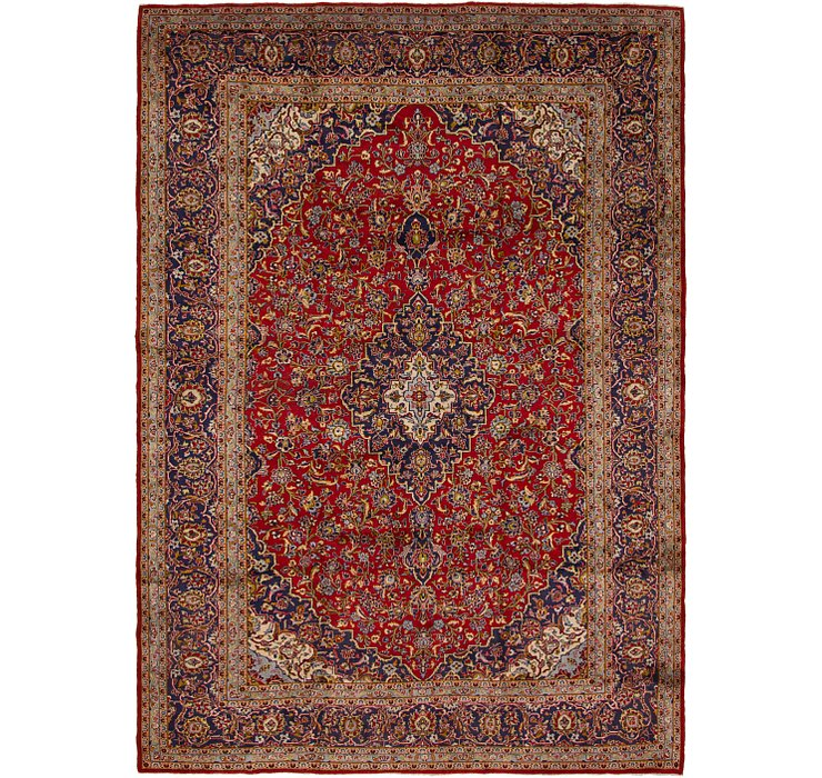 HandKnotted 10' x 14' Kashan Persian Rug