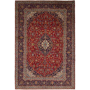 10' x 14' 4 Kashan Persian Rug