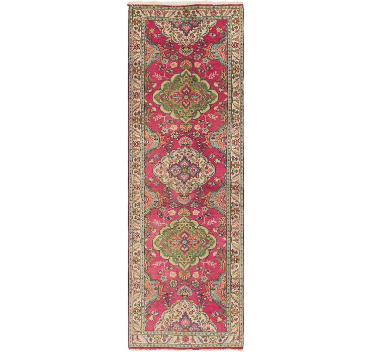 3' 3 x 10' 4 Tabriz Persian Runner Rug