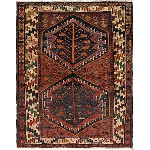 5' 3 x 6' 5 Shiraz-Lori Persian Squ...