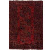 Link to 3' 5 x 5' 2 Afghan Akhche Oriental Rug