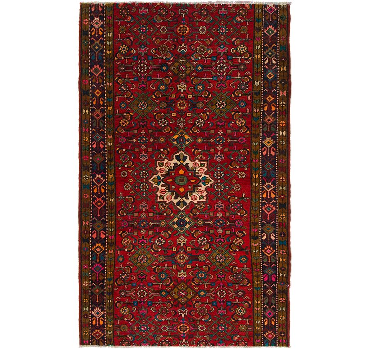 4' 2 x 6' 9 Hossainabad Persian Rug