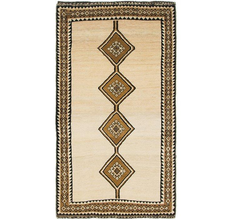 3' 3 x 6' Shiraz-Gabbeh Persian Rug