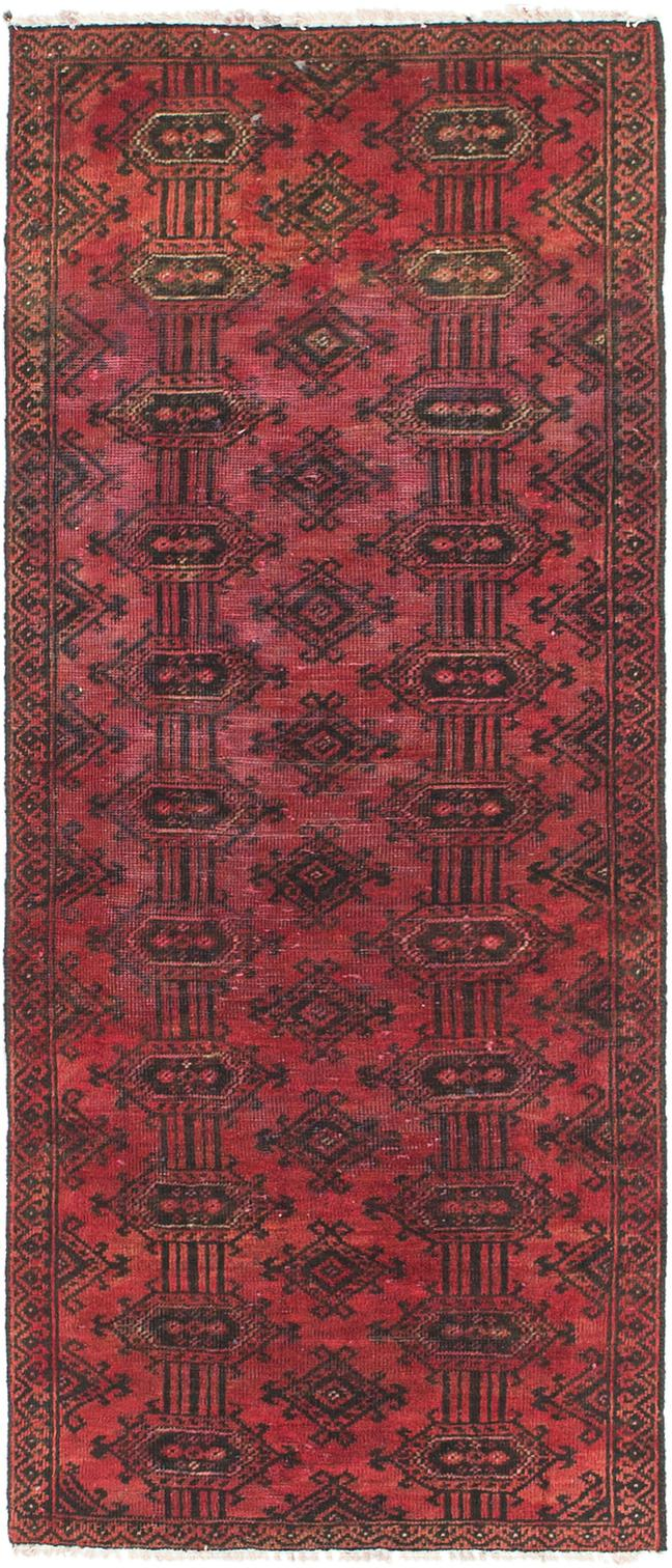 Red Handknotted 2 X 5 4 Torkaman Persian Runner Rug Persian Rugs