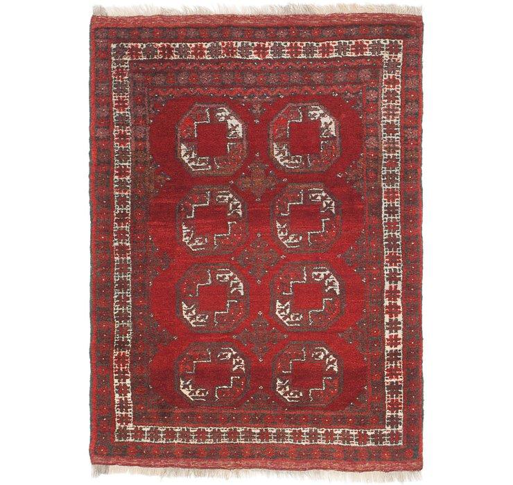3' 6 x 4' 10 Afghan Akhche Rug