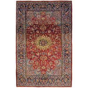 Unique Loom 6' 5 x 10' Mashad Persian Rug
