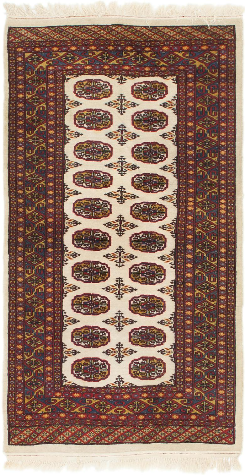 Ivory 3 X 5 7 Bokhara Oriental Rug Oriental Rugs Handknotted Com