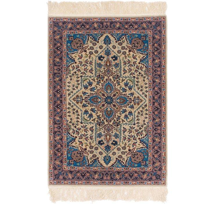 3' 2 x 4' 9 Isfahan Oriental Rug