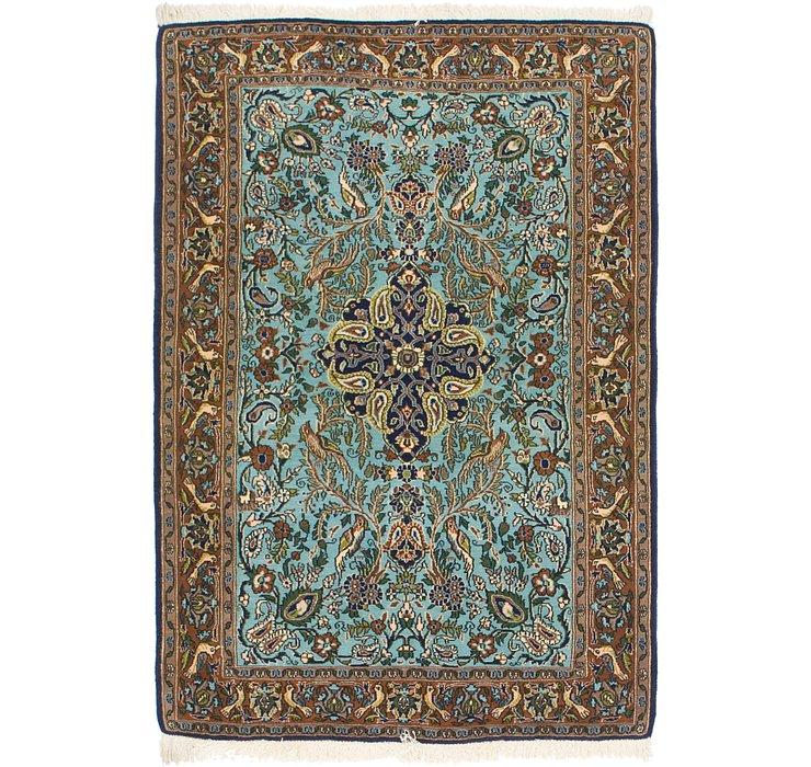 3' 6 x 5' Qom Persian Rug