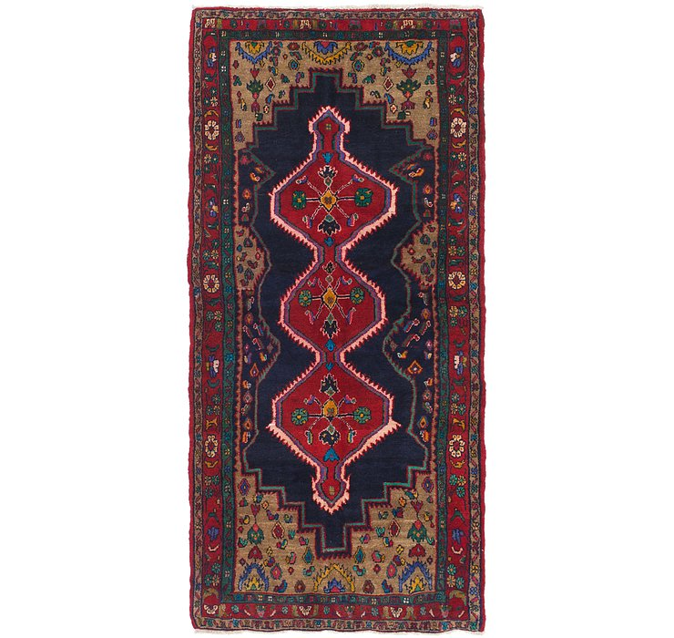 HandKnotted 3' 7 x 7' 10 Hamedan Persian Runner ...