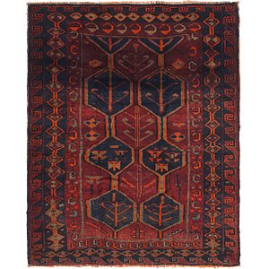 5' 6 x 7' Shiraz Persian Square Rug