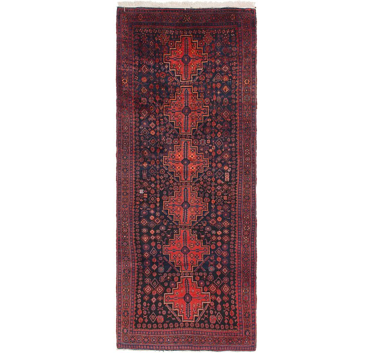 127cm x 320cm Senneh Persian Runner Rug