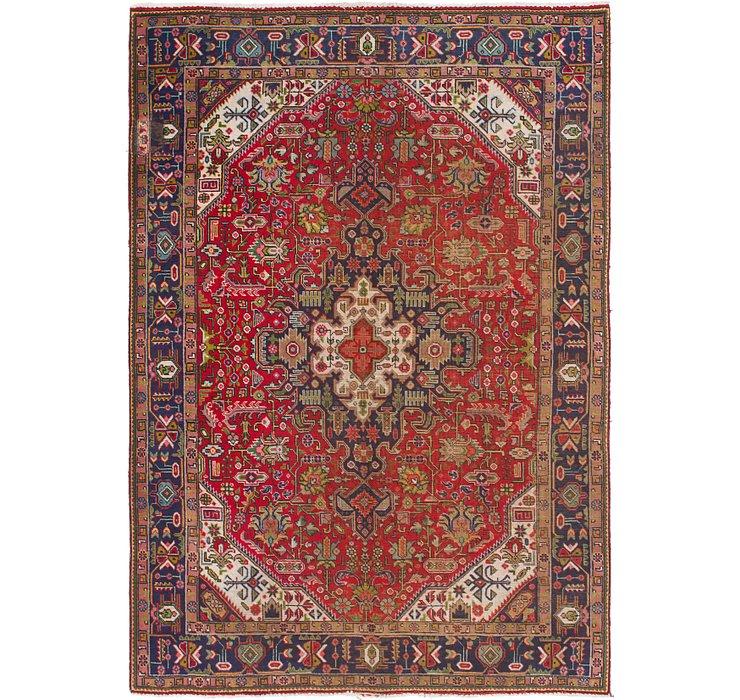 HandKnotted 6' 7 x 9' 7 Tabriz Persian Rug