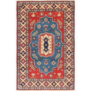 4' x 6' 2 Kazak Rug