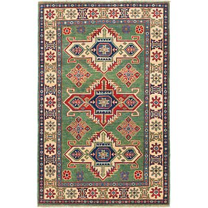 Unique Loom 4' x 6' Kazak Rug