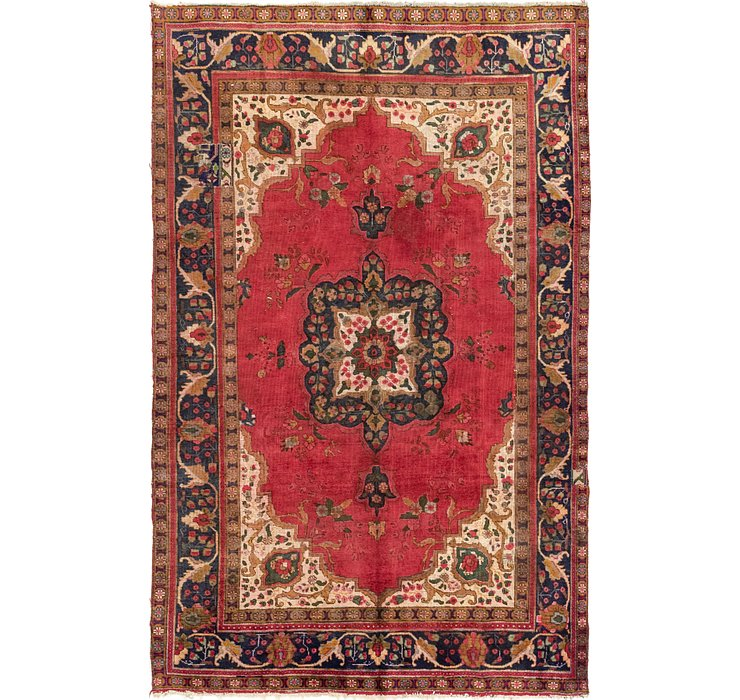 6' 7 x 10' 2 Tabriz Persian Rug