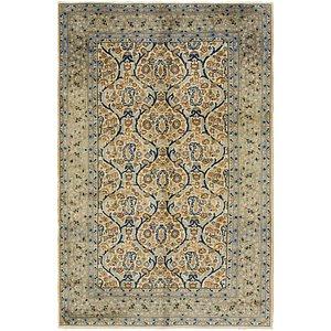 6' 6 x 10' Kashan Persian Rug