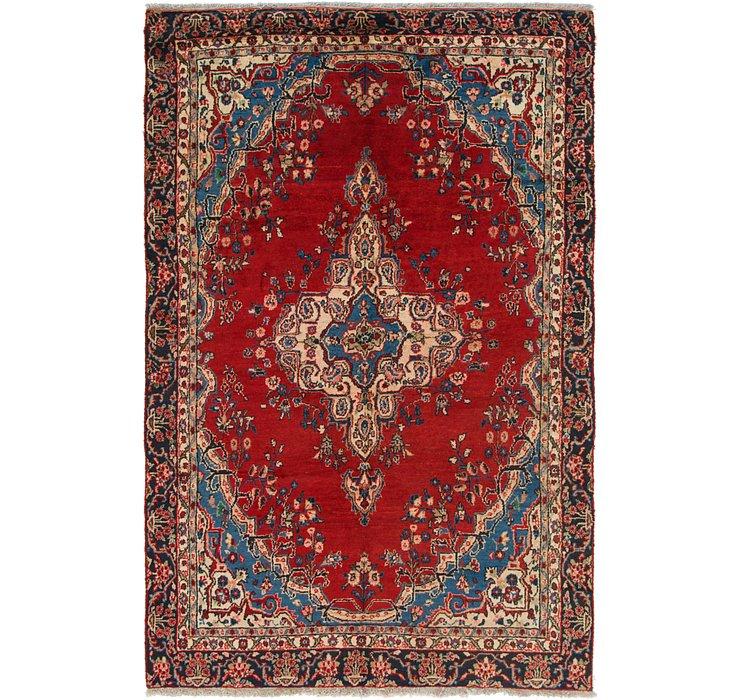 6' x 9' 2 Hamedan Persian Rug