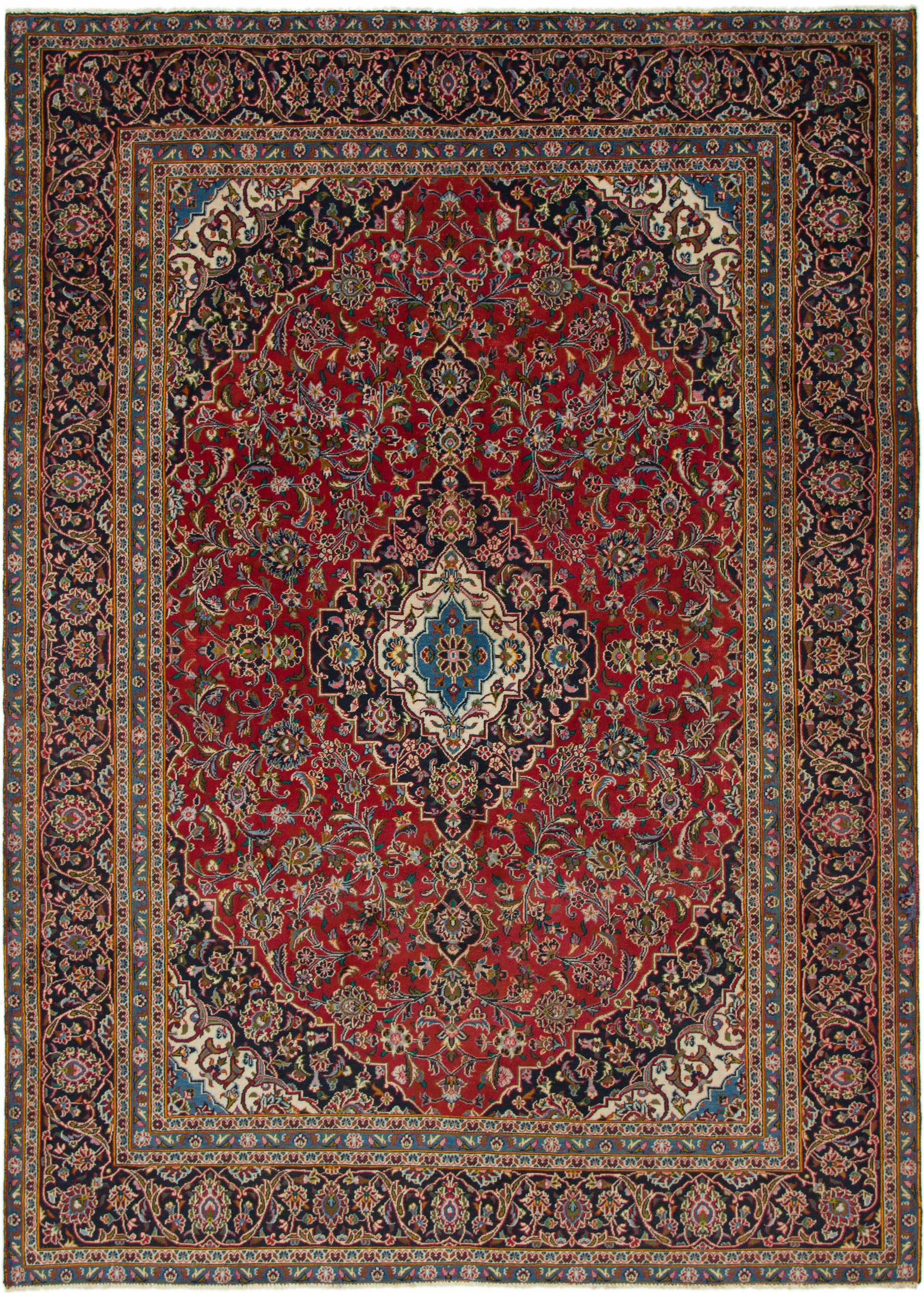 Red 7 6 X 10 7 Kashan Persian Rug Handknotted Com