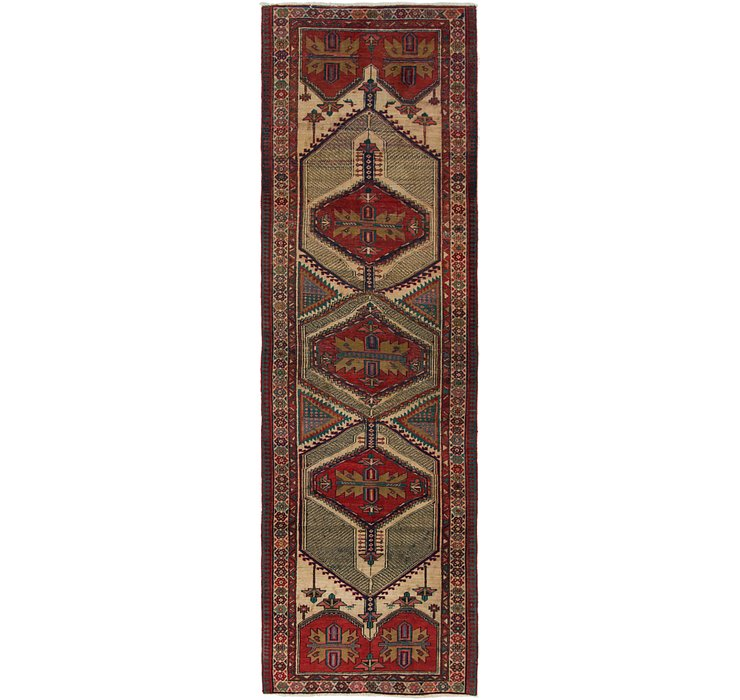 3' 3 x 11' Ardabil Persian Runner ...