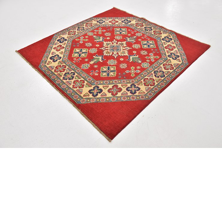 4' 10 x 5' Kazak Square Rug