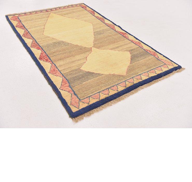 3' 4 x 5' Shiraz-Gabbeh Persian Rug