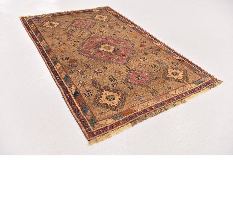 4' 1 x 6' 2 Ghashghaei Persian Rug