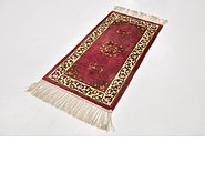 Link to 2' x 4' Antique Finish Oriental Runner Rug