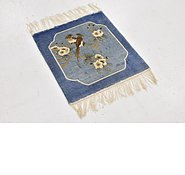 Link to 1' 7 x 1' 8 Antique Finish Oriental Square Rug