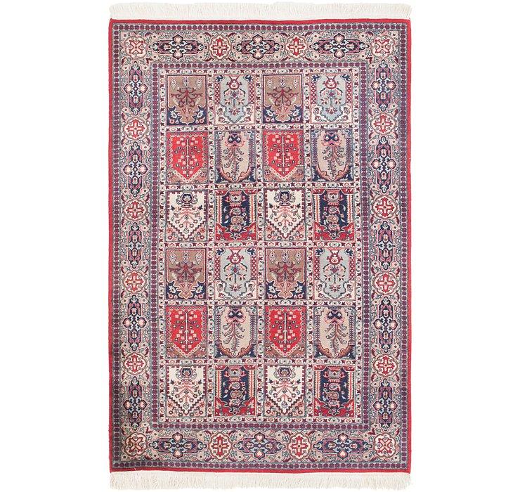 4' x 6' 4 Sarough Oriental Rug