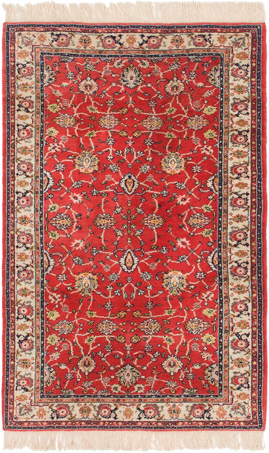 Red Unique Loom 4 4 X 6 9 Kashan Rug Oriental Rugs Rugs Com