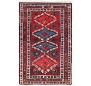 Link to 4' 5 x 7' Hamedan Persian Rug