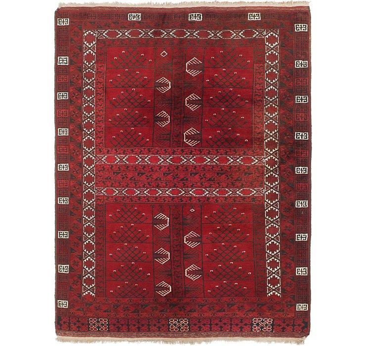 5' 2 x 6' 10 Afghan Ersari Rug