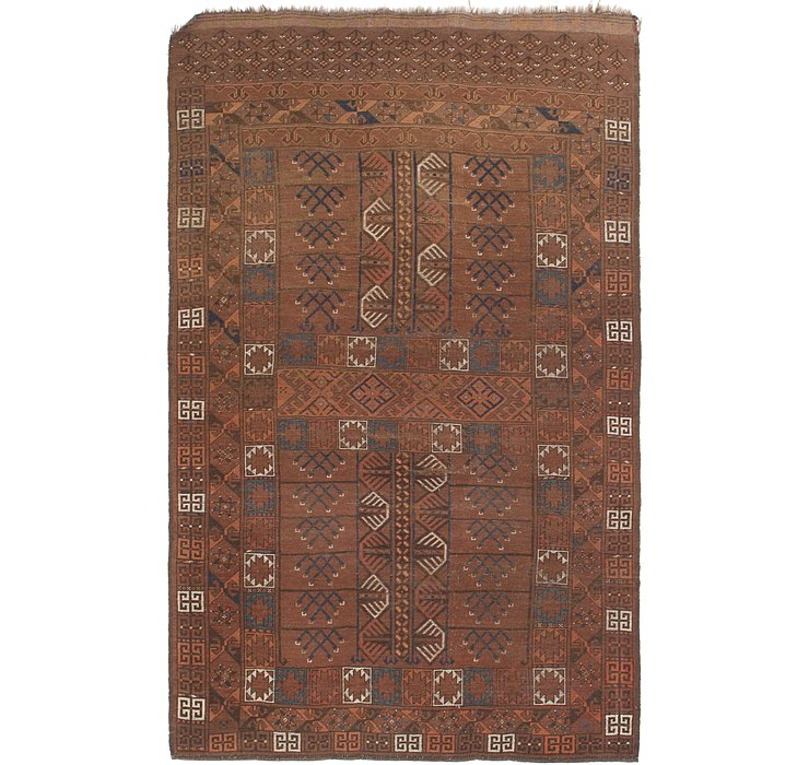 4' 7 x 7' 3 Shiraz Persian Rug